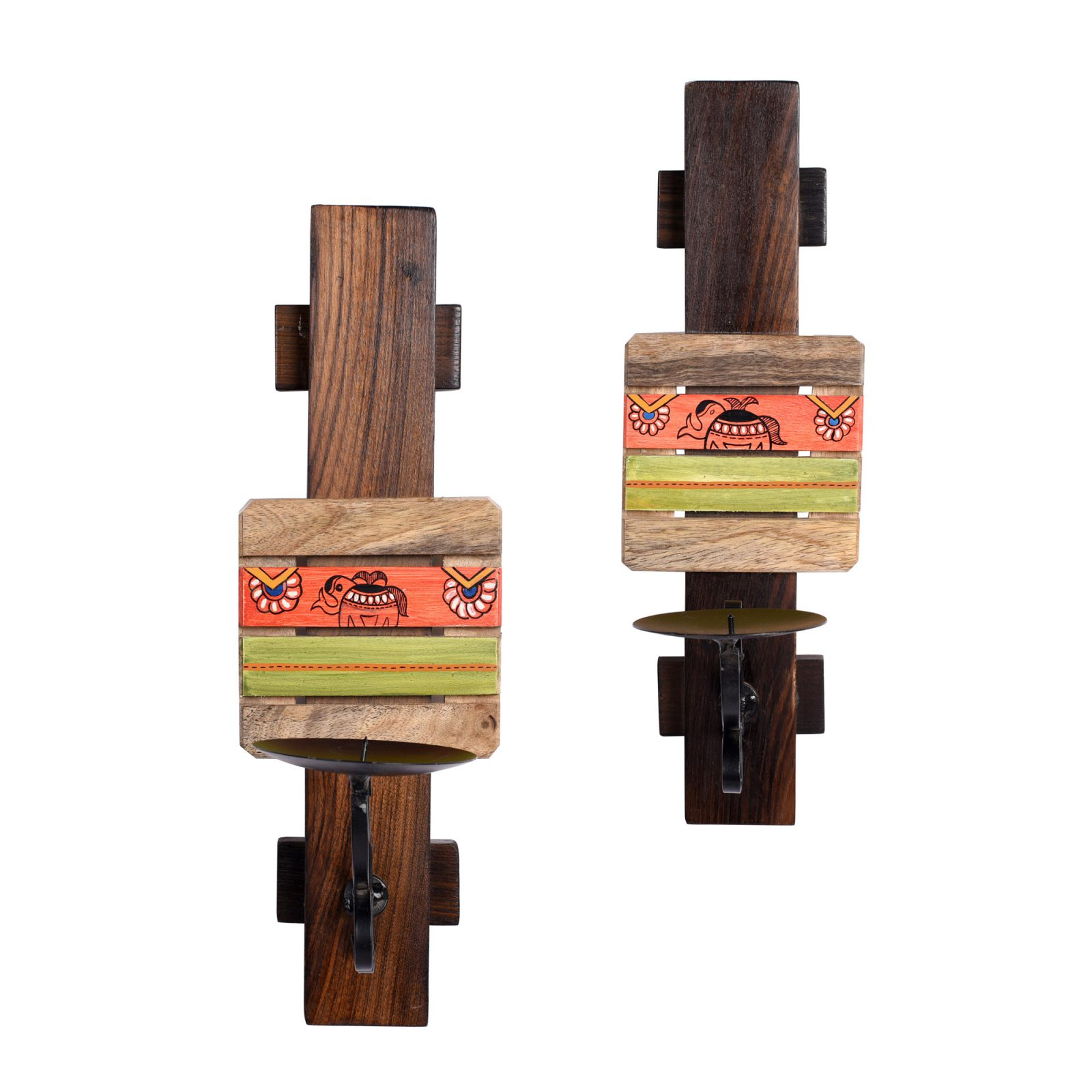 Handcrafted Wooden Candle Holder