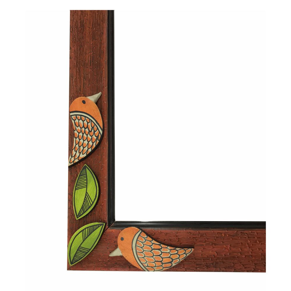 Mirror Handcrafted with Two Birds Tiles (12x16)