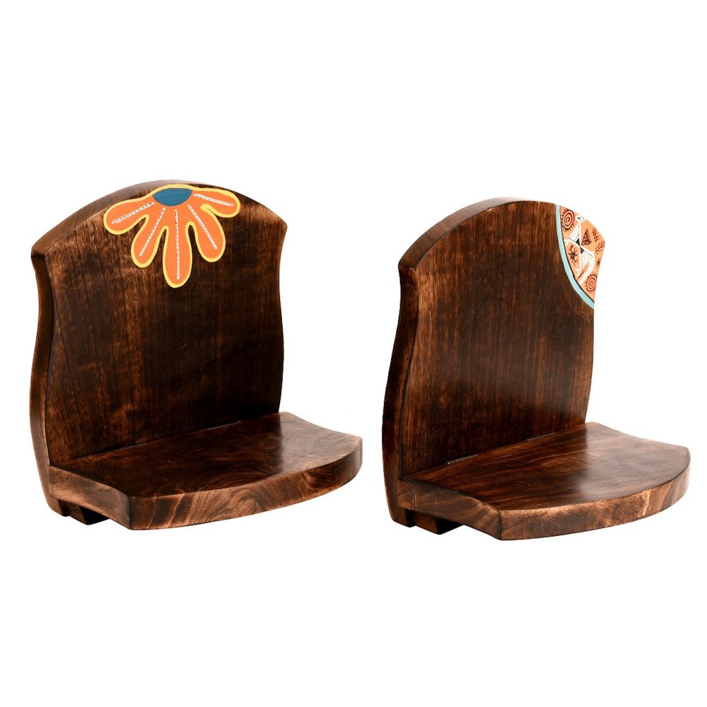 Wall Decor Handcrafted Wooden Shelves (Set of 2)  (6.5x5x7)