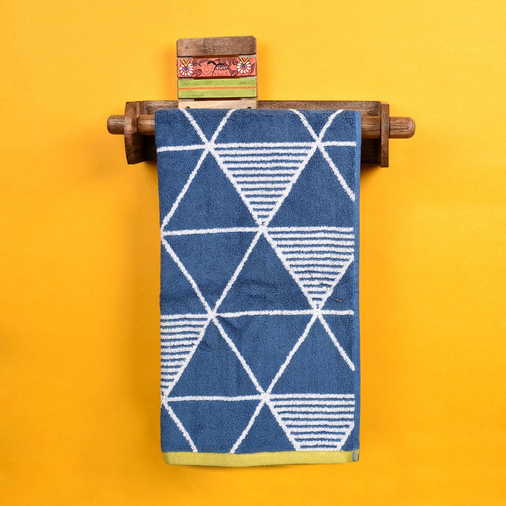 Towel Holder Handcrafted Tribal Art  (15x4x6.4)