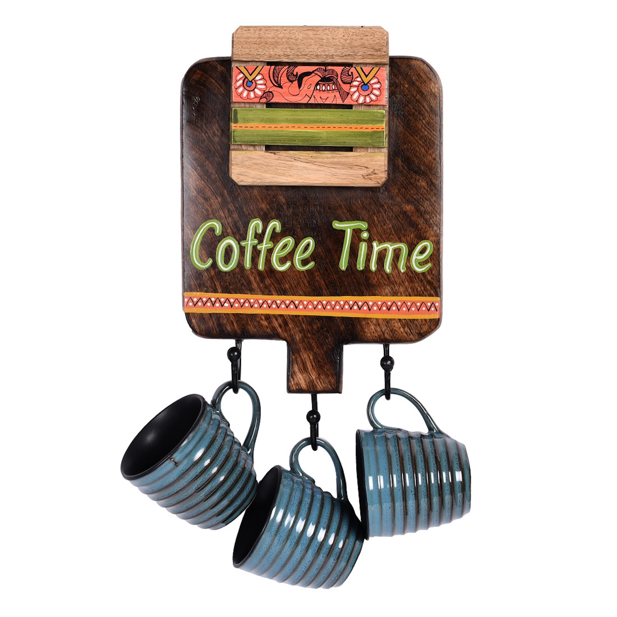 Wall Hanging Cup Holder for Decoration