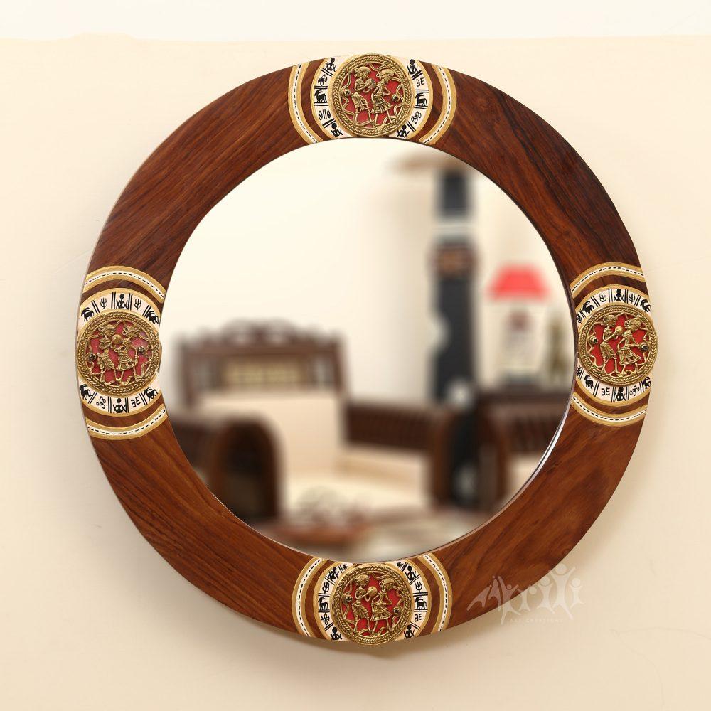 "Chandrika Rosewood Mirror (18x18"")"