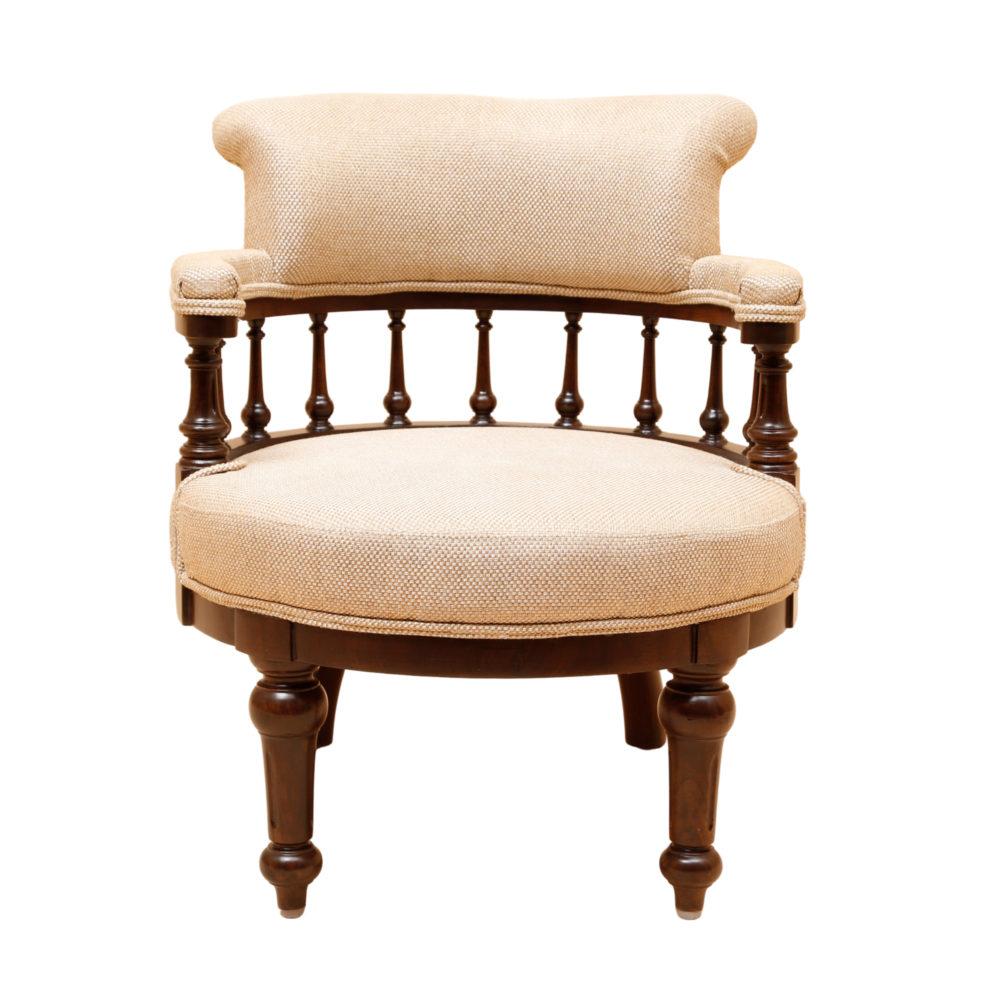 Moda Single Seater Sofa in Teakwood with Walnut Finish (24x24x30)