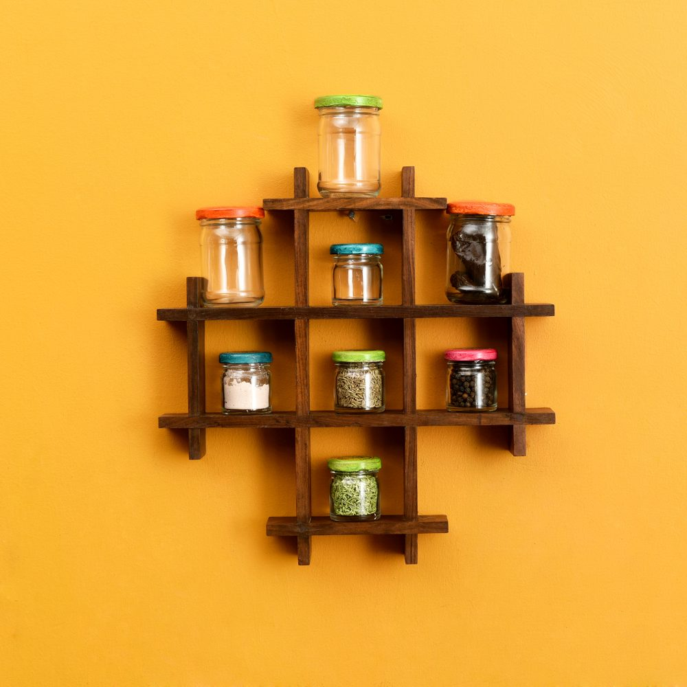 Spices Organizer For Wall Set Of 8 (13x2x13)