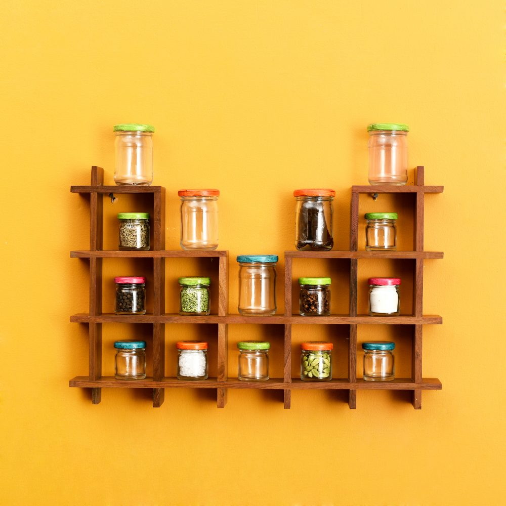 Spices Organiser For Wall Set Of 16 (20x2x13)
