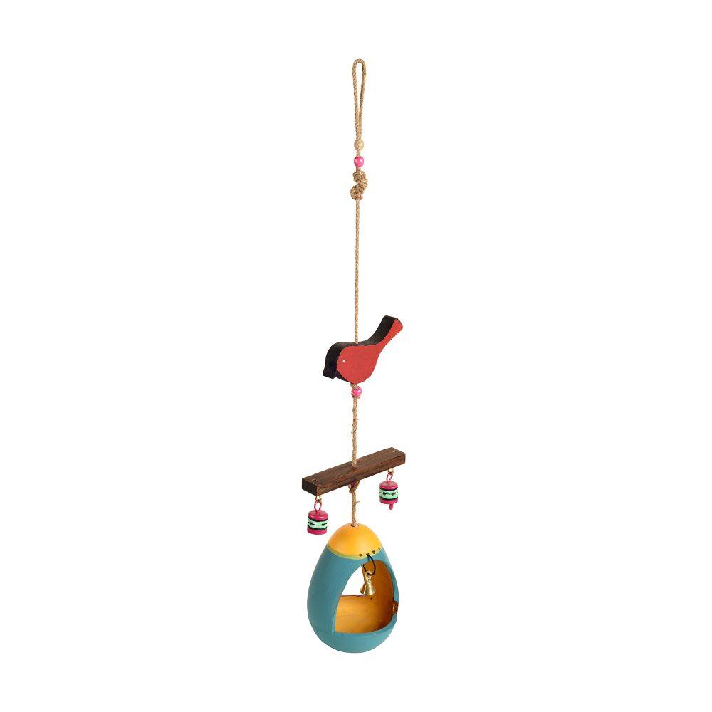 Blue Hanging Bird Feeder (5x5x29)