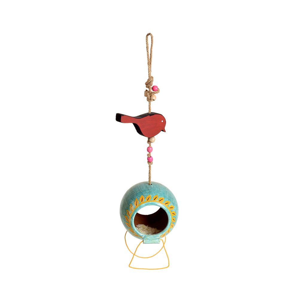 Blue Hanging Bird Feeder (5x5x20)