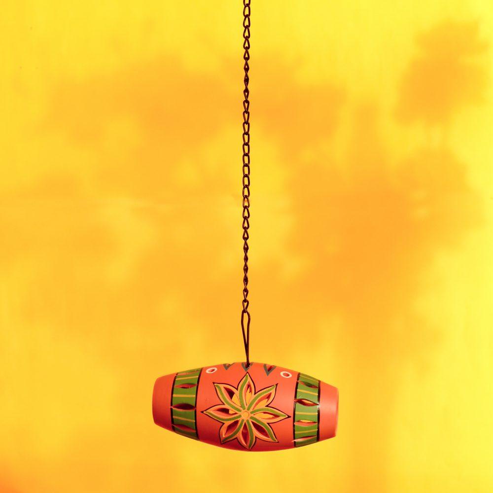 Terracotta Multicolor Handcrafted Hanging Tea light