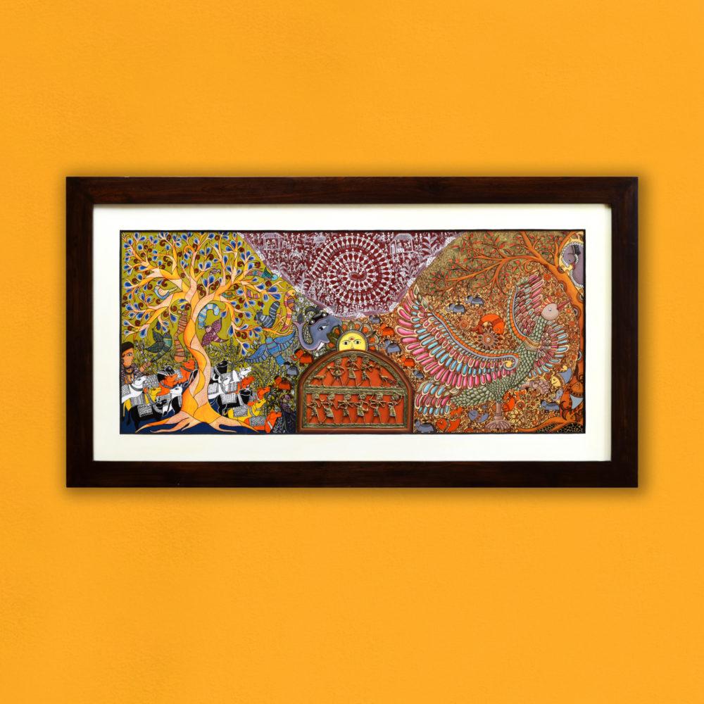 Handpainted Fusions - Madhubani & Dhokra Painting