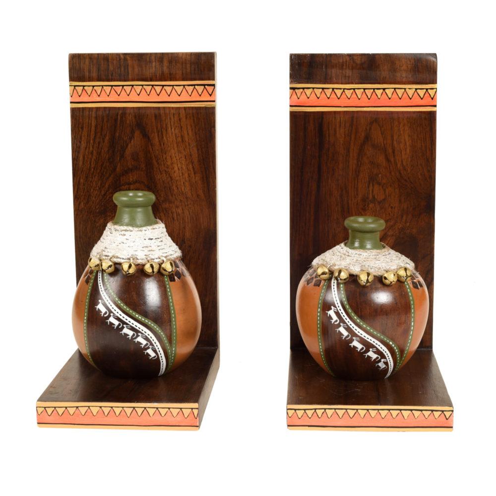 Coco Earthen Vases with Wall Decor Shelves (SO2)