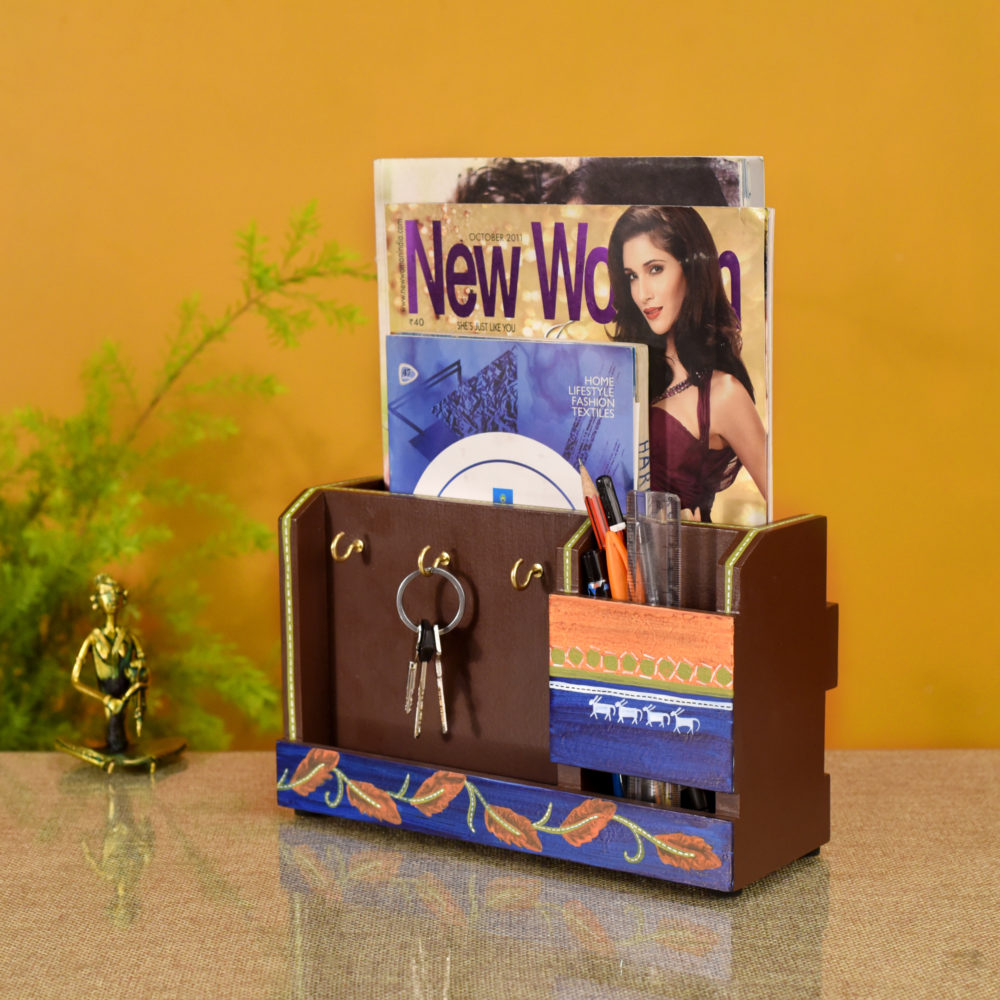Autumn Leaf Key Hanger & Magazine Stand