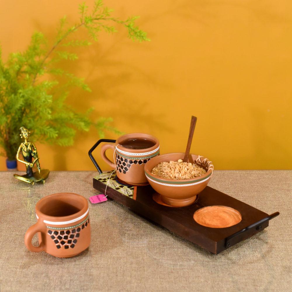 Knosh Breakfast Set in a Stylish Tray (Set of 3)