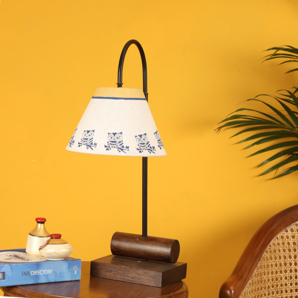 Yin & Yang I Table Lamp with Tapered Drum Shade-Height - 21''