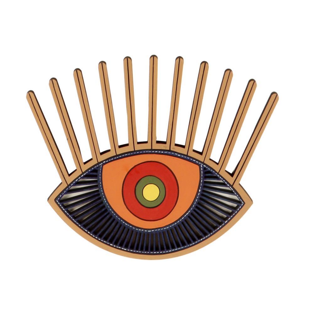 Aurora Evil Eye Wall Decor Mask (12x10)