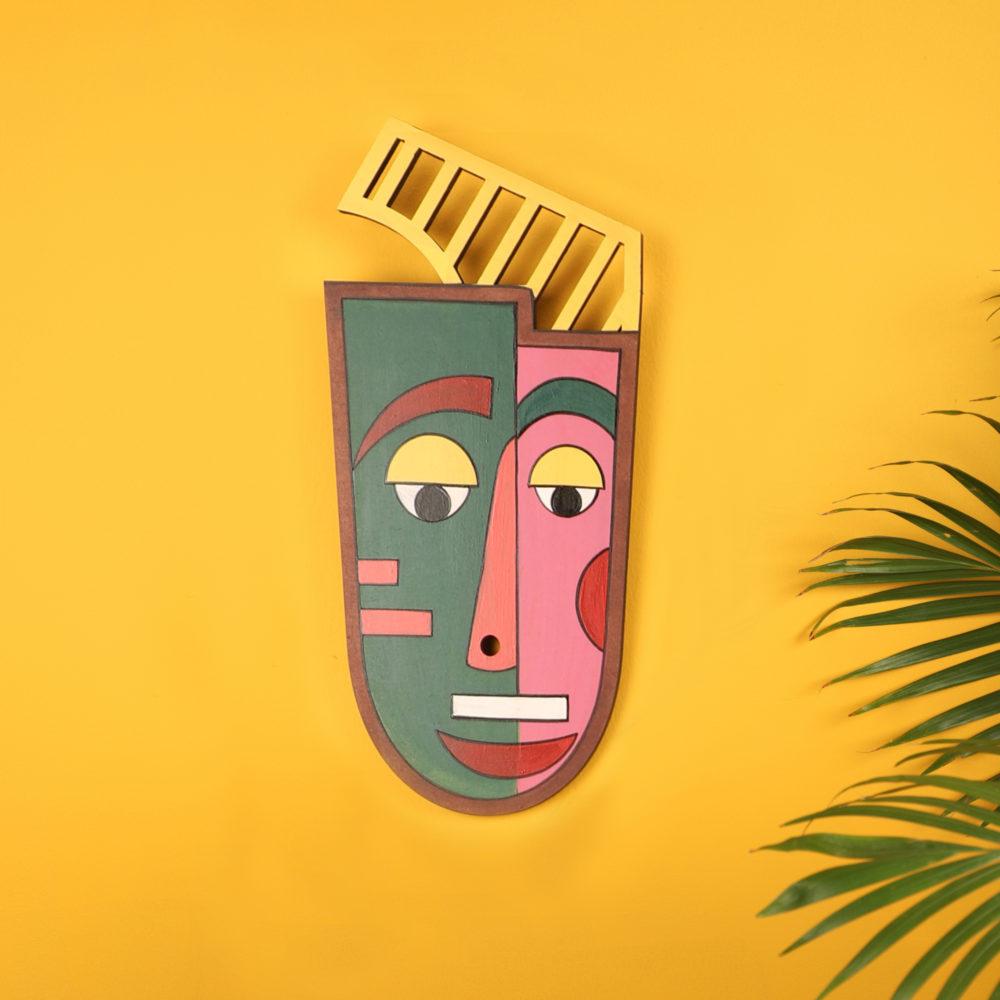 Casanova Yellow Wall Decor Mask (6x13)