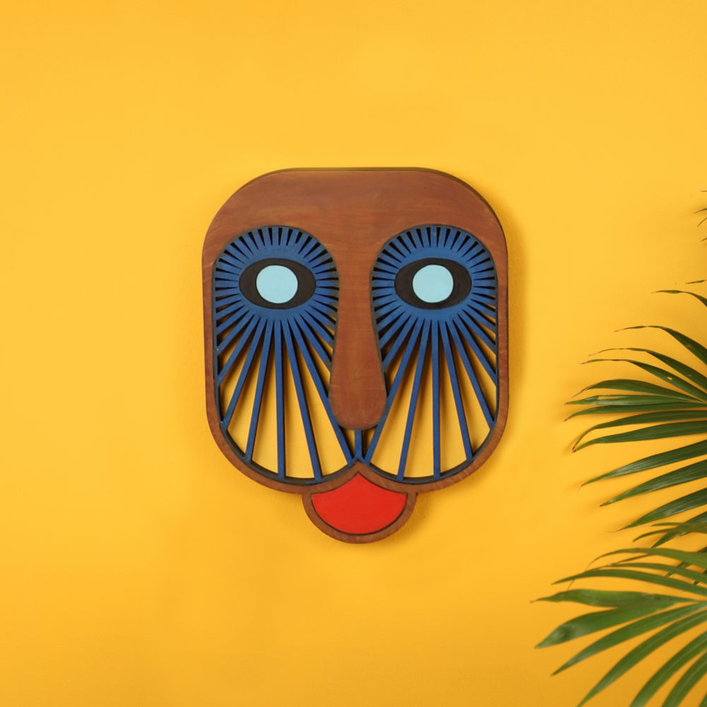 Blue Basenji Wall Decor Mask (7.5x9.5)