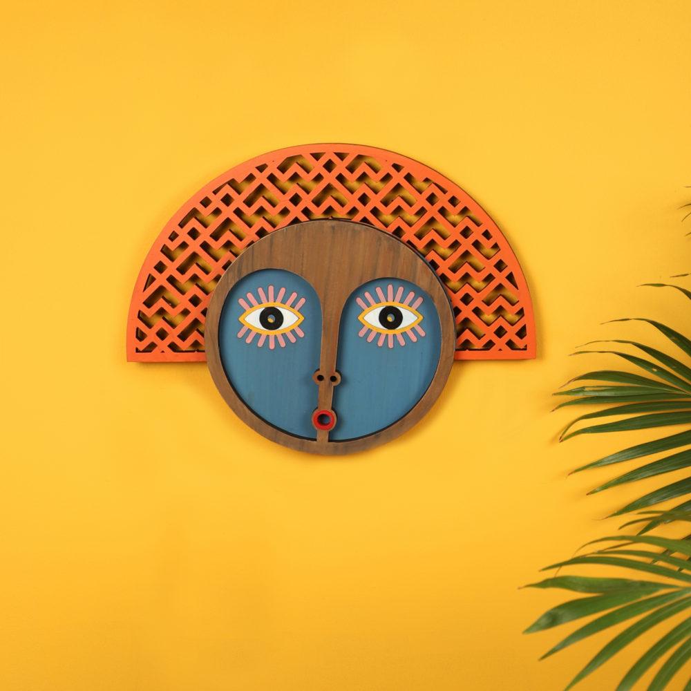 Mrs Peachy Doubtfire Wall Decor Mask (14x11)