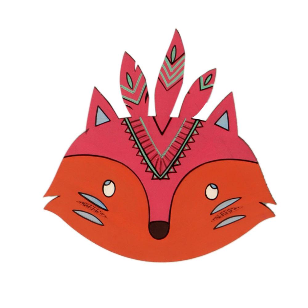 The Crafty Fox Wall Decor Mask (7x7)