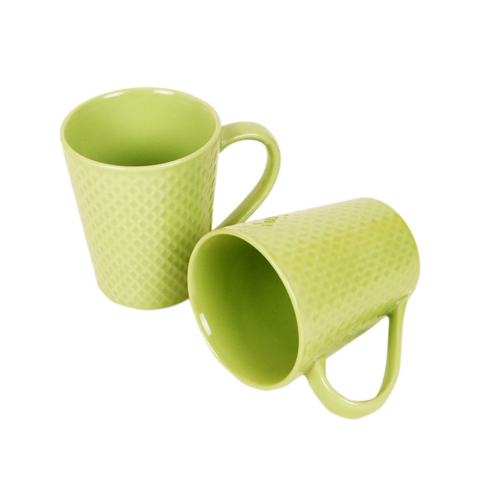 Mint Green Coffee Mugs Set of 2