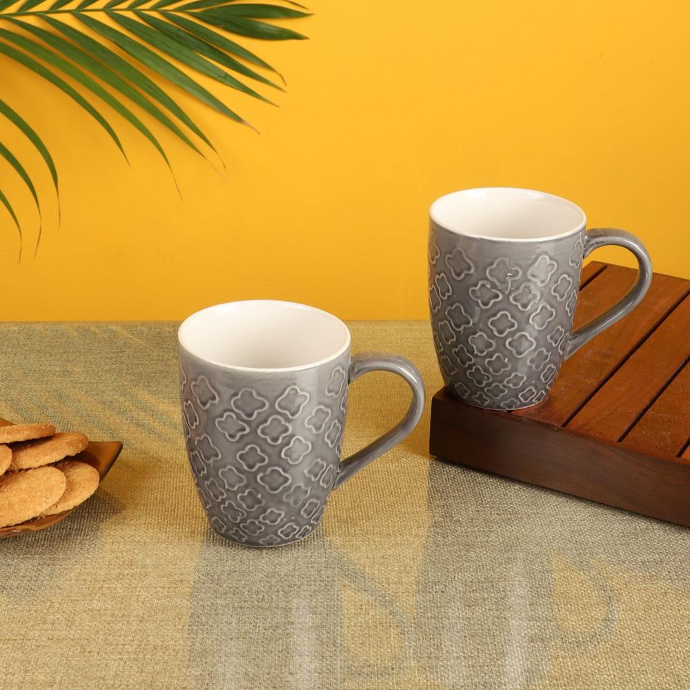 Ash Grey Mugs Set of 2