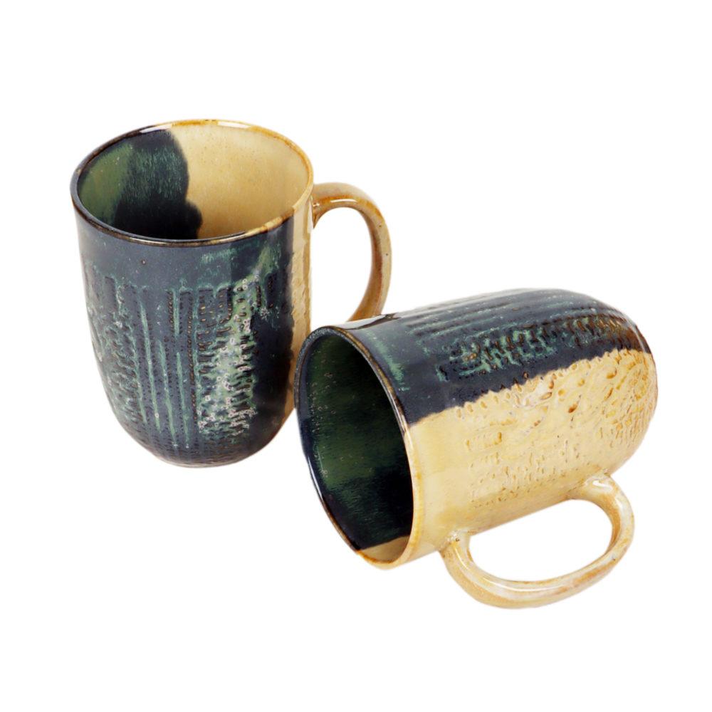 Beige Shadow Mugs Set of 2