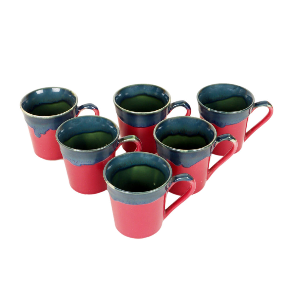 Cherry Moss Tea Cups Set of 6