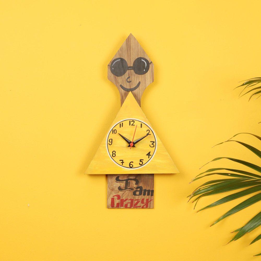 Crazy Me Wall Clock -8x1.1x15