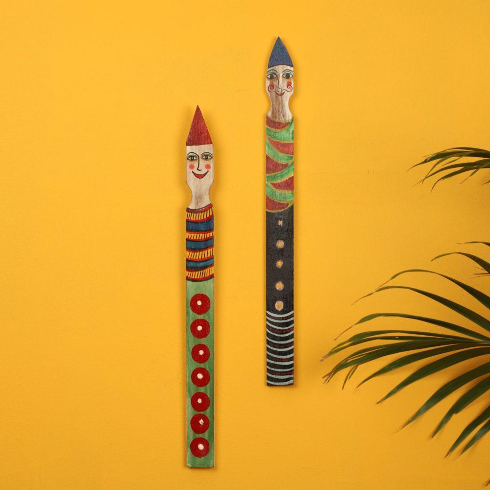 Funny N' Honey Jokers Wall Decor Sticks (SO2)-1.5x0.1x17/ 1.5x0.1x16.5