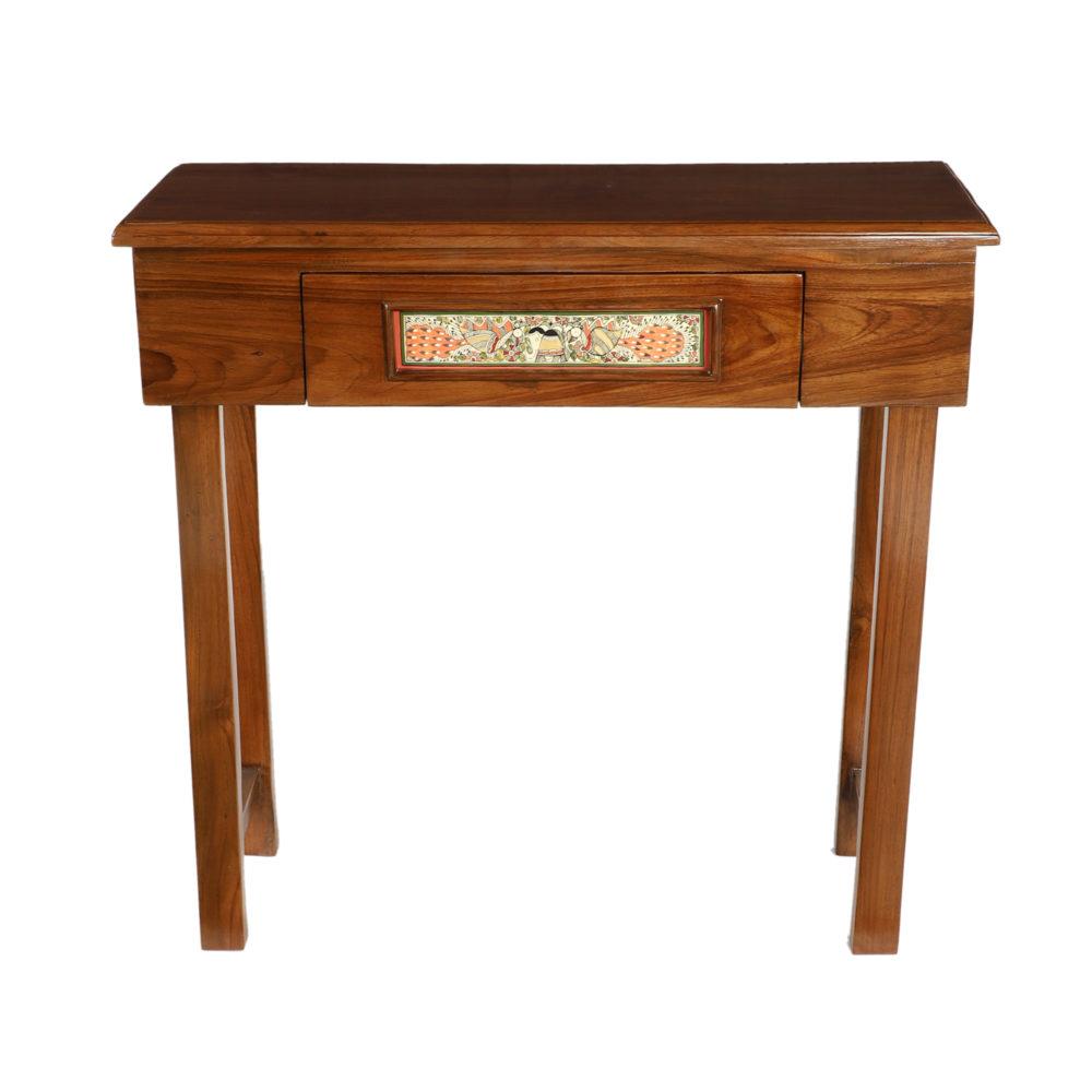 Daisy Console Table in Teakwood in Teakwood Finish (31x12x30)