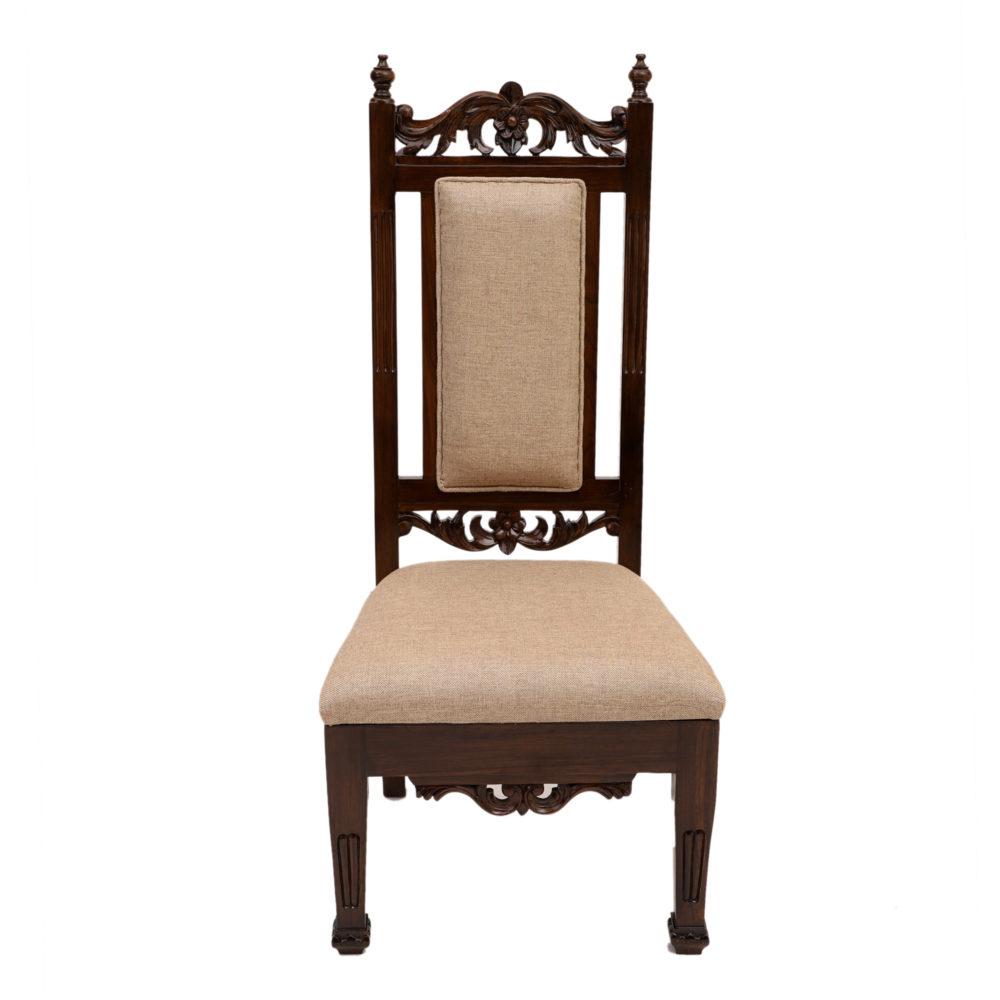 Soha Chair in Premium Teakwood in Walnut Finish (21x22x48)