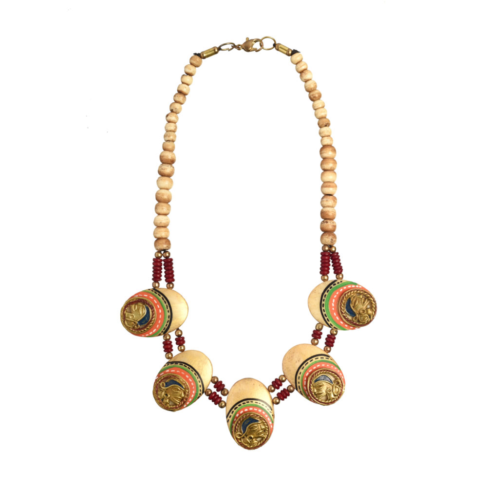 The Guards Of Empress Handcrafted Tribal Dhokra Necklace