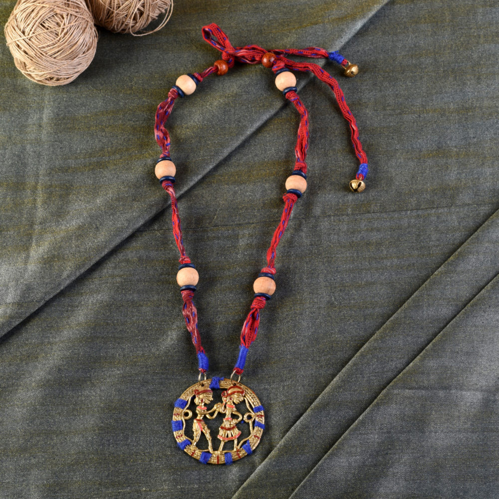 The Tribal Circle Handcrafted Dhokra Necklace