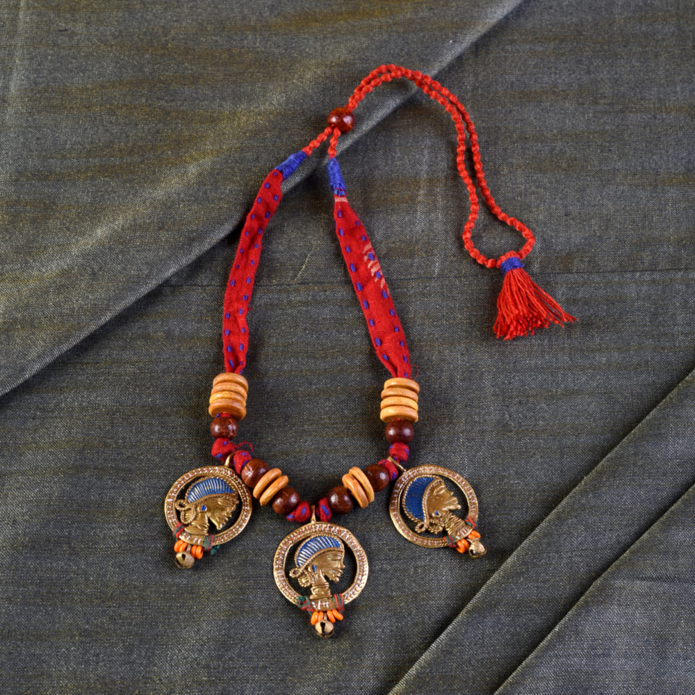 The Waiting Empress Handcrafted Tribal Dhokra Necklace