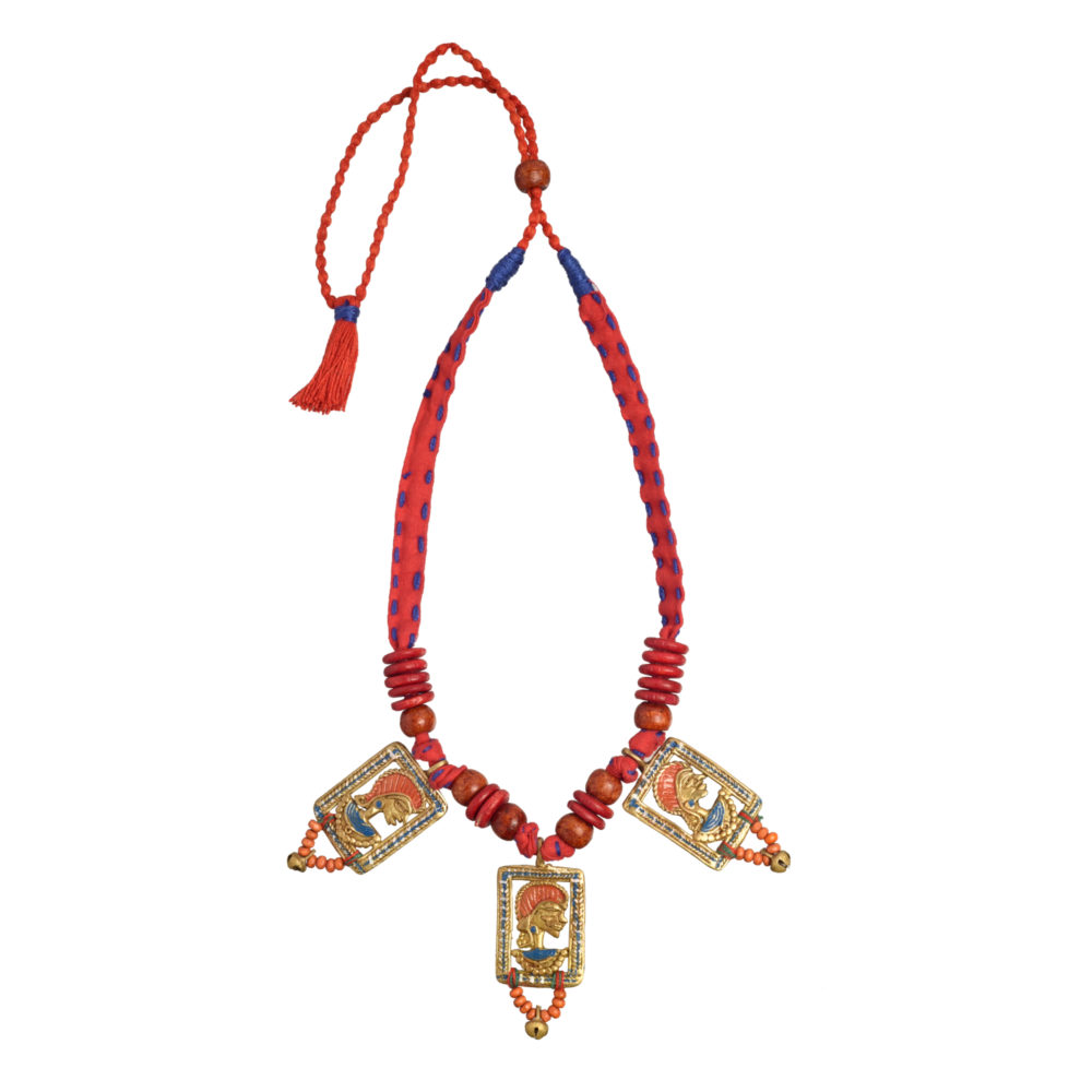 The Empress in Window Handcrafted Tribal Dhokra Necklace