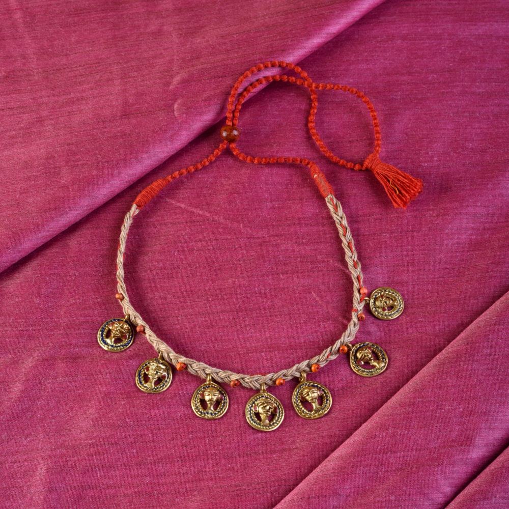 The Council of Empress Handcrafted Tribal Dhokra Choker