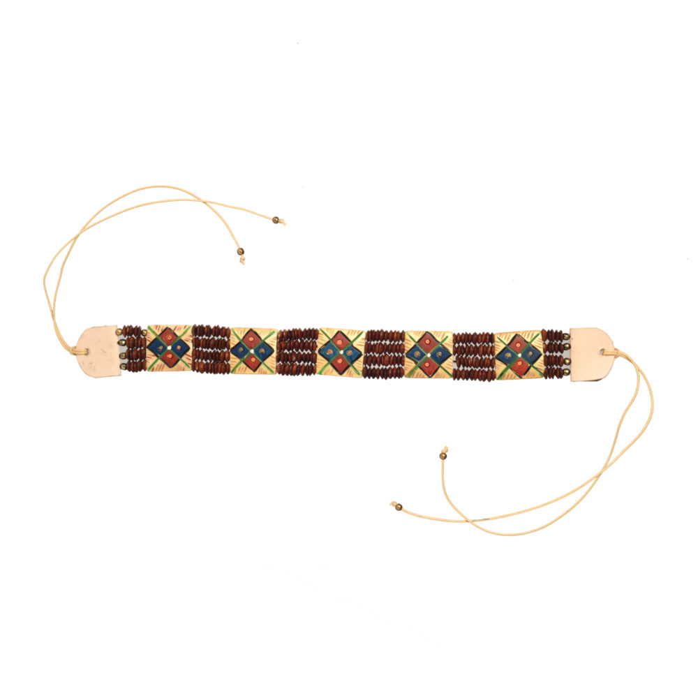 The Guards Of Empress III Handcrafted Tribal Dhokra Square Choker