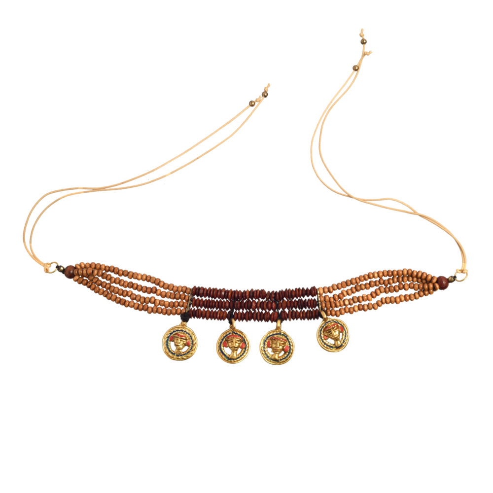 The Empress Loop Handcrafted Tribal Dhokra Necklace