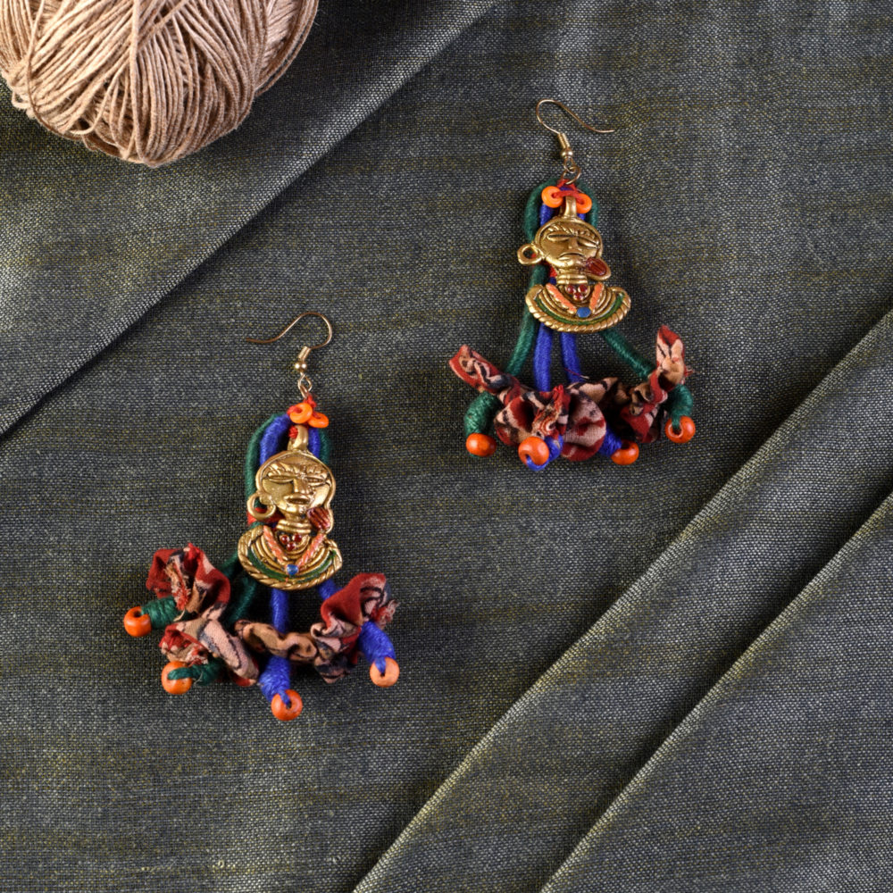 The Charm of Empress Handcrafted Tribal Dhokra Earrings