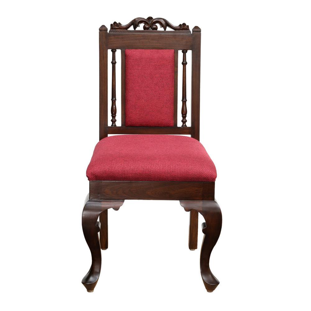 Moha Chair in Premium Teakwood in Walnut Finish (21x19x39)