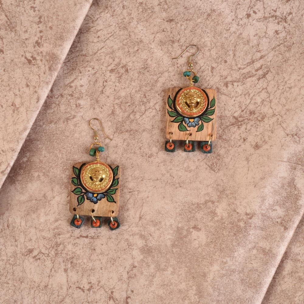 Butterfly-XI' Handcrafted Tribal Wooden Earrings