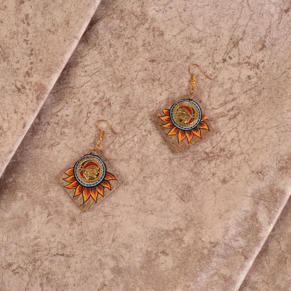 Butterfly-VI' Handcrafted Tribal Wooden Earrings