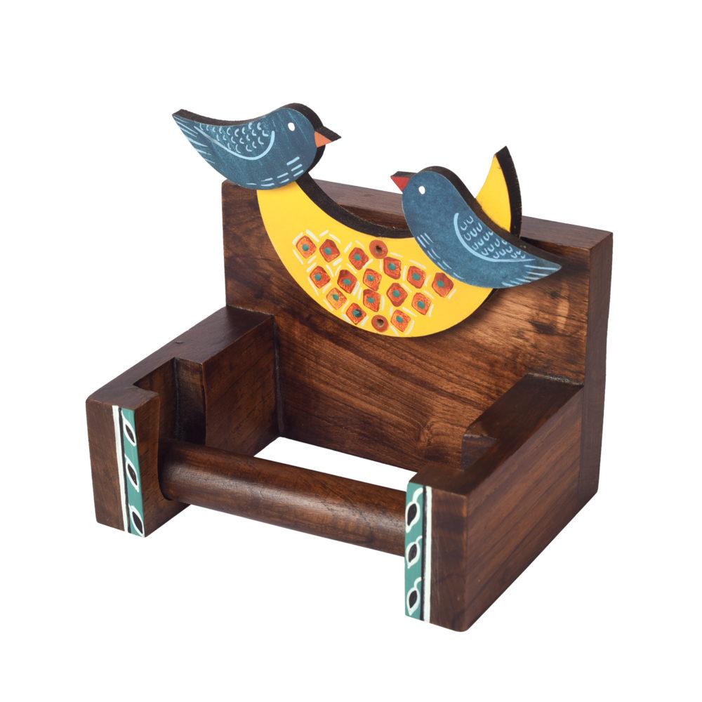 Love Birds Toilet Roll Holder (6x4x6)