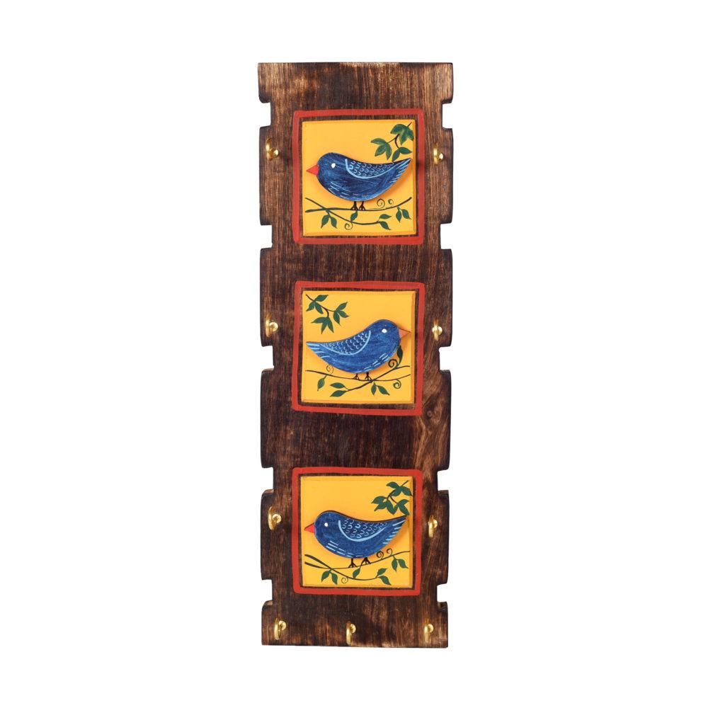 Love Birds Key Holder with 9 Key Hangers (5x.5x15)