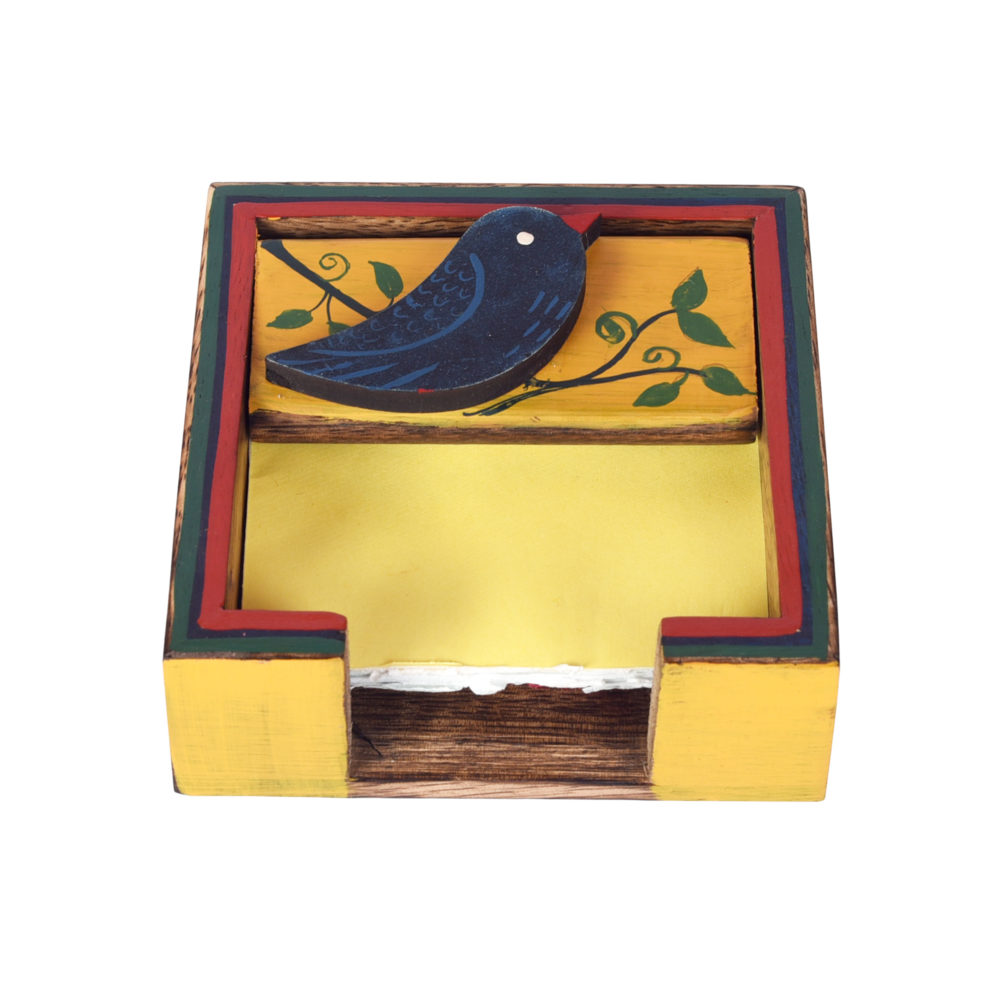 Love Bird Slip Pads Holder (4.5x4.5x1.5)